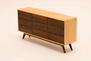 Mid-Century Modern Credenza with drawers